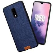 Noziroh OnePlus 7 Hülle Fabric Blau