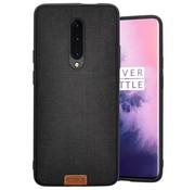 Noziroh OnePlus 7 Pro Hülle Fabric Schwarz