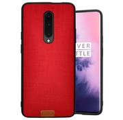 Noziroh OnePlus 7 Pro Hülle Fabric Rot