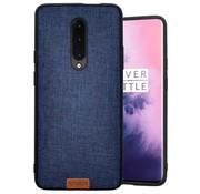 Noziroh OnePlus 7 Pro Hülle Fabric Blau