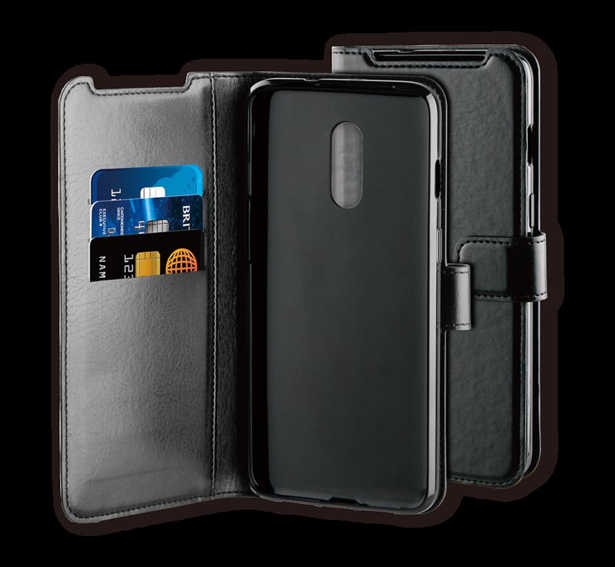 OnePlus 7 Hülle Gel Booktype Schwarz