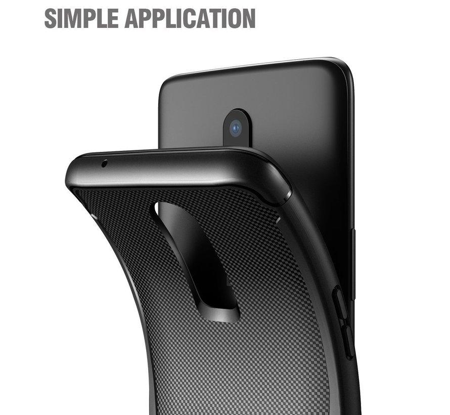 OnePlus 6 Hülle Karbon Shield Schwarz
