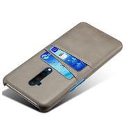 OPPRO OnePlus 7T Pro Case Slim Leder Kartenhalter Grau