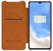 Nillkin OnePlus 7T Flip Case Qin Braun