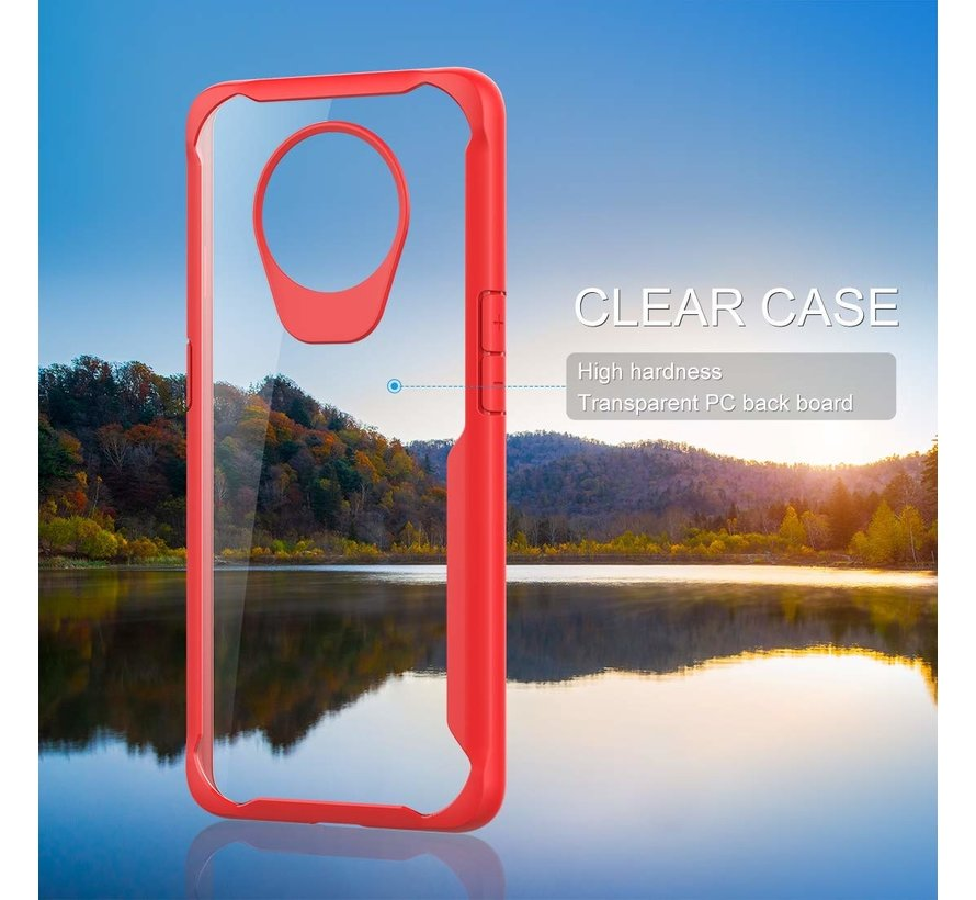 OnePlus 7T Hybrid Bumper Case Rot