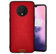 Noziroh OnePlus 7T Hülle Stoff Rot