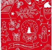 Eingewickeltes Weihnachtspapier