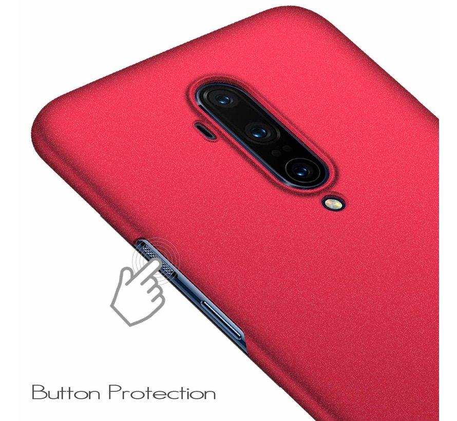 OnePlus 7T Pro Hülle Ultra Slim Grip Textur Rot