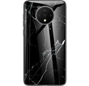 OPPRO OnePlus 7T Glass Design Handyhülle Marmor Schwarz