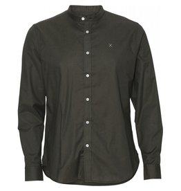 Clean Cut Copenhagen Oxford Mao Shirt