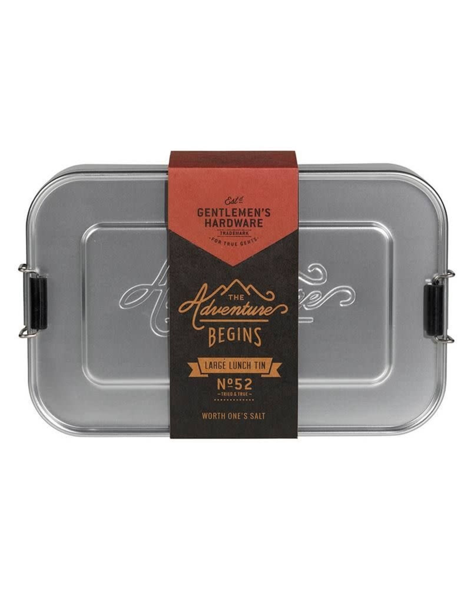 Gentlemen's Hardware Silver Lunch Box Large