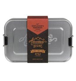 Gentlemen's Hardware Silver Lunch Box Large