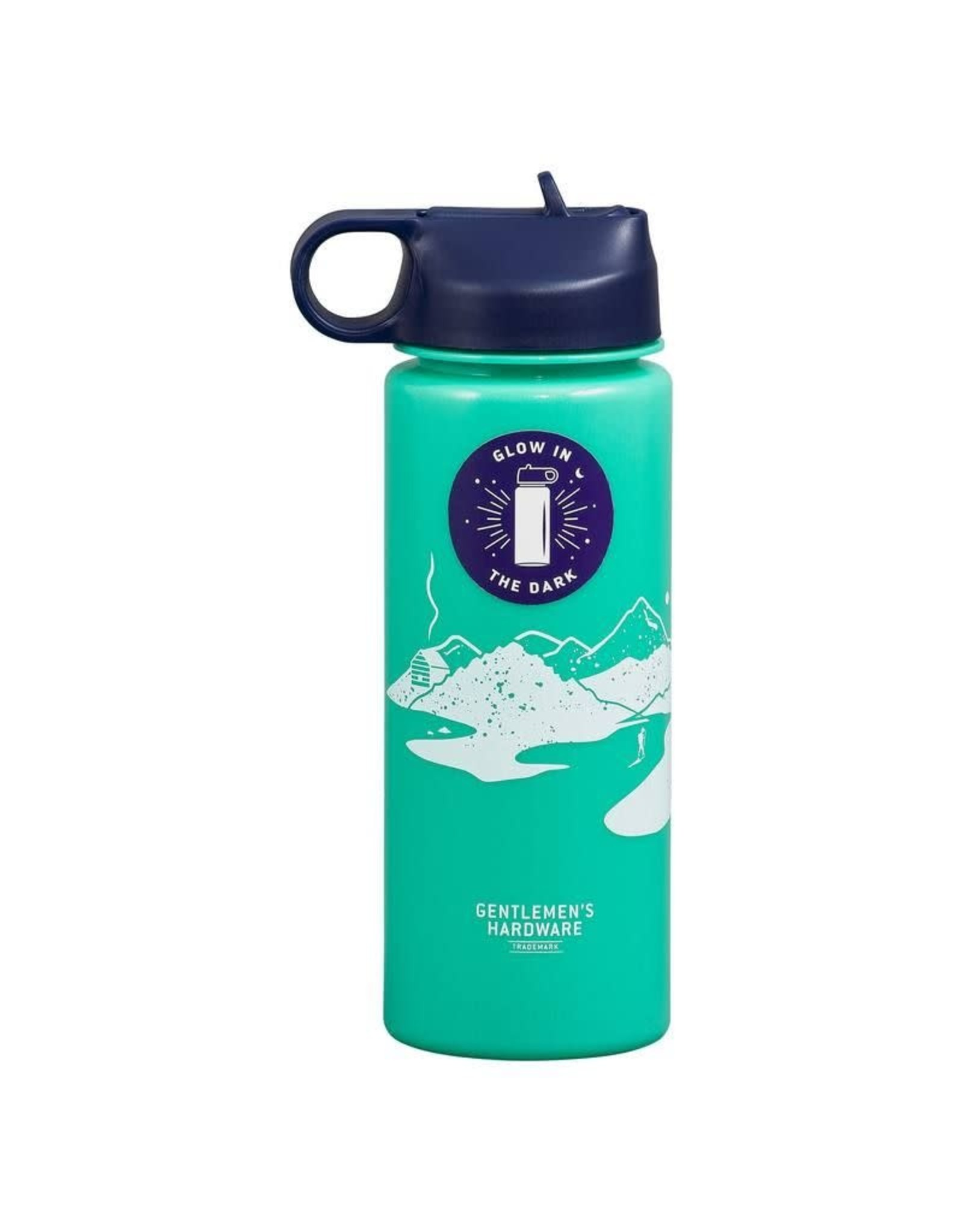 Gentlemen's Hardware Glow In The Dark Water Bottle - 700ml