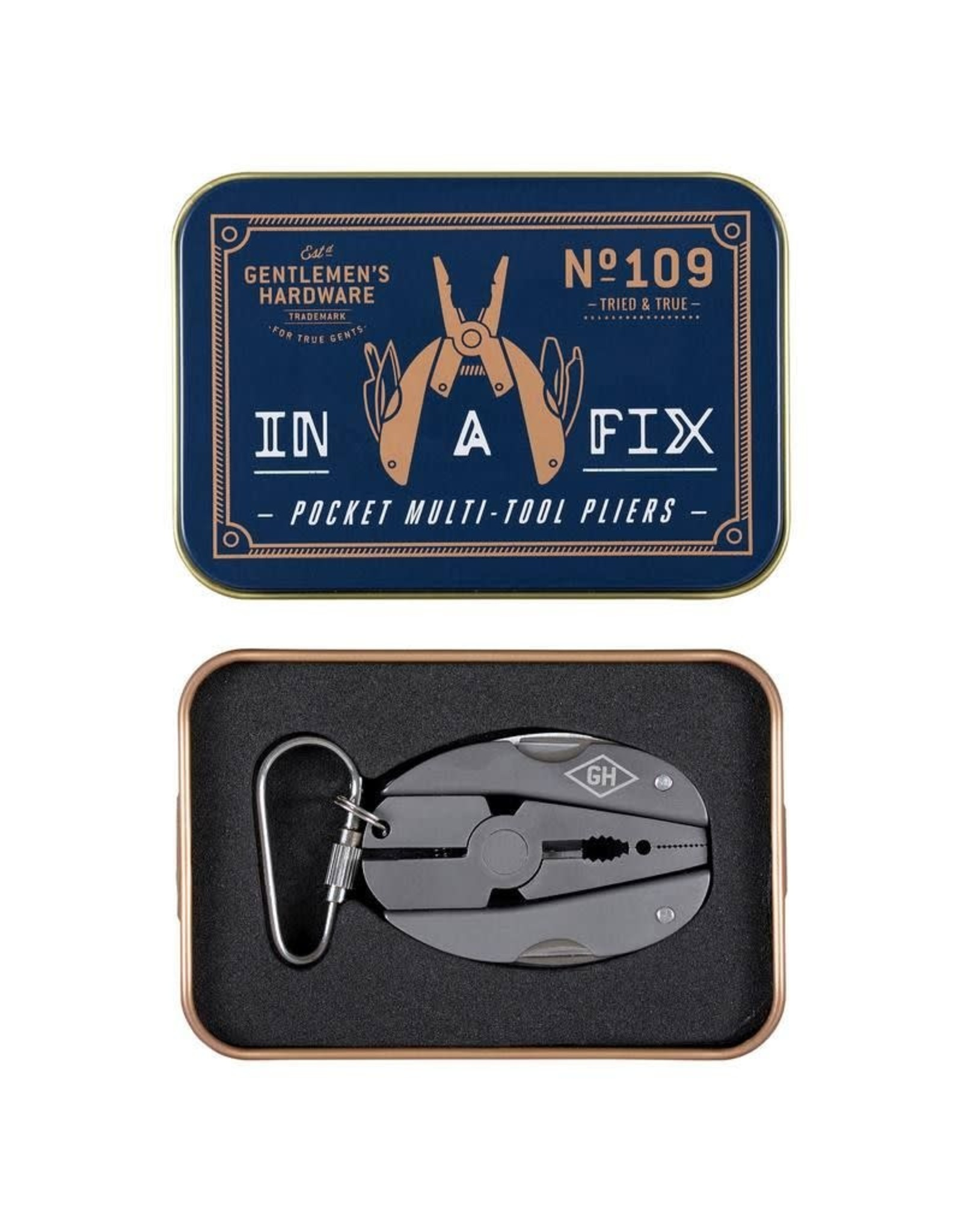 Gentlemen's Hardware Pocket Multi-Tool Pliers Titanium Finish