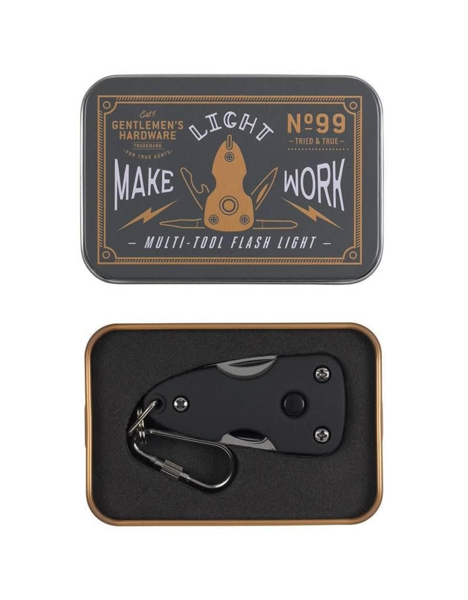 Gentlemen's Hardware Pocket Multi Tool with Flash Light