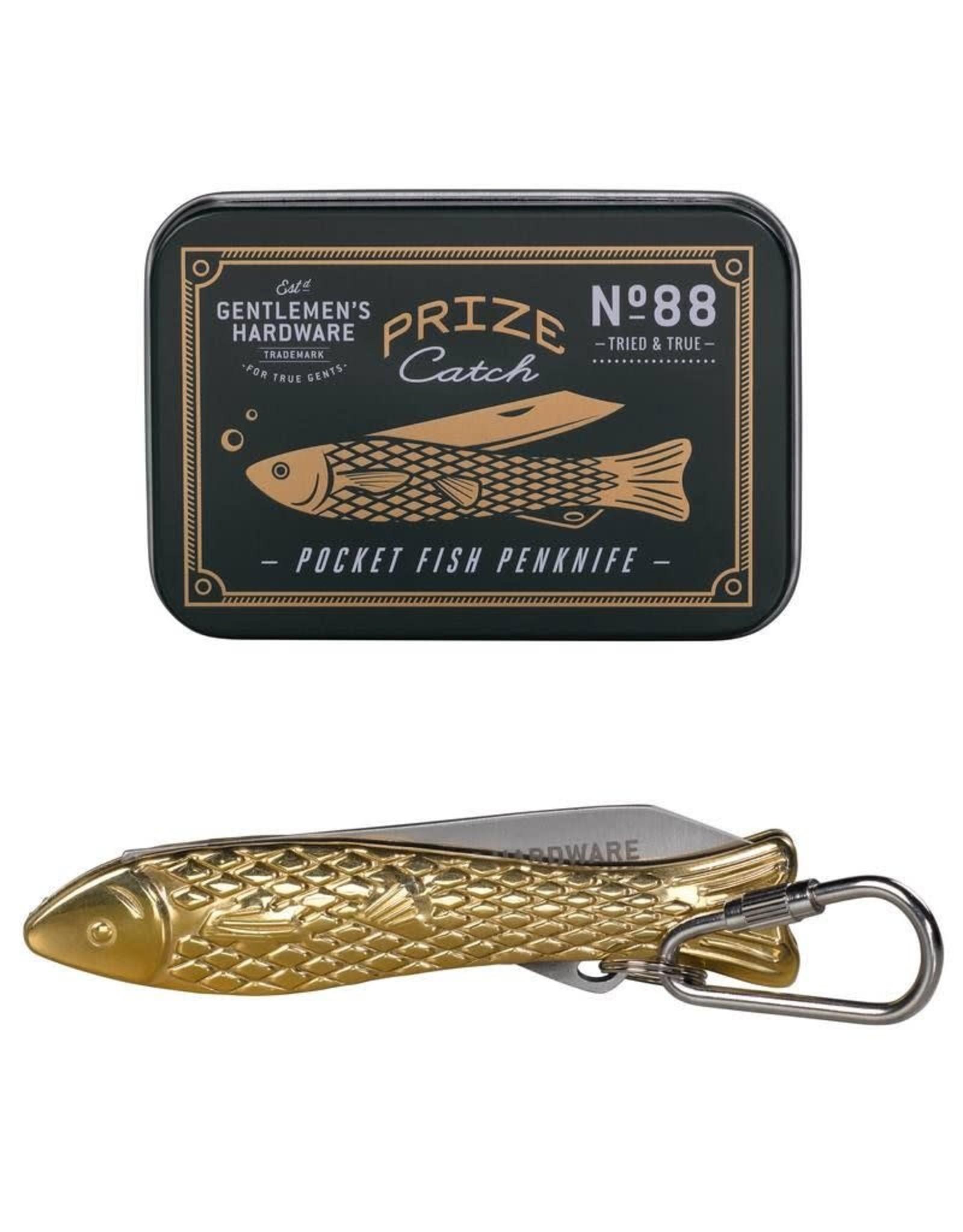 Gentlemen's Hardware Fish Pen Knife Brass