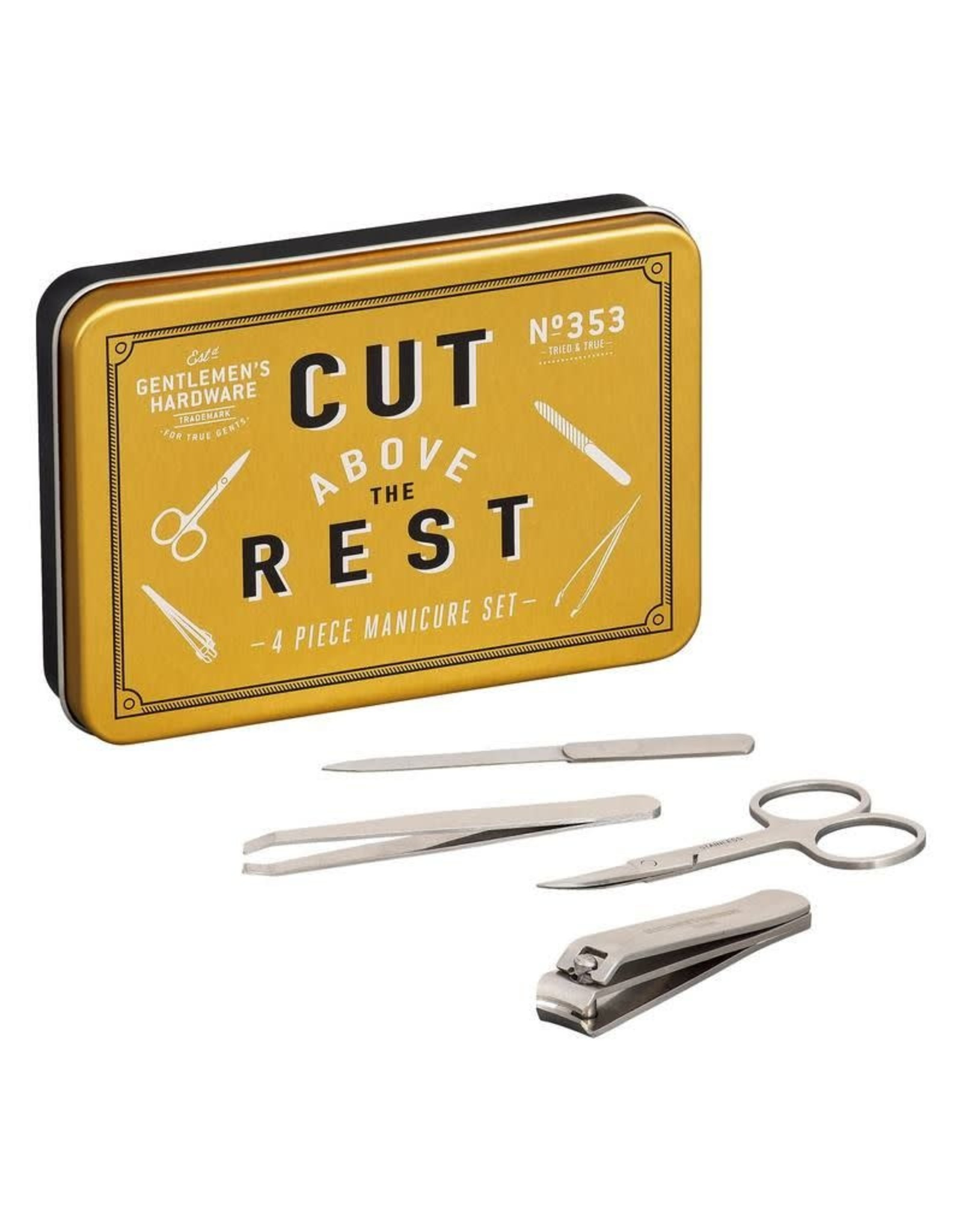 Gentlemen's Hardware Manicure Set In Tin