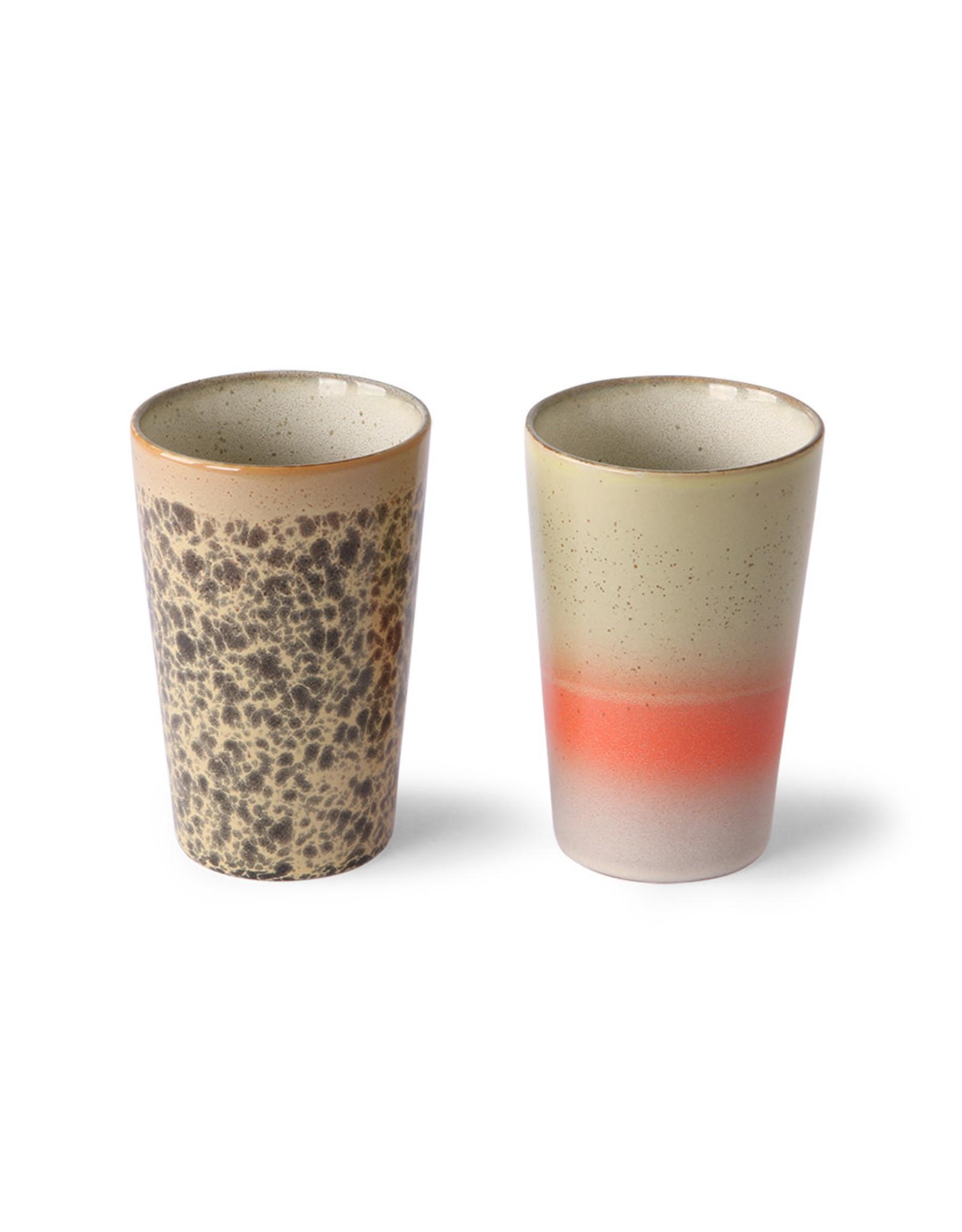 HKliving Ceramic 70's Tea Mugs ACE6952