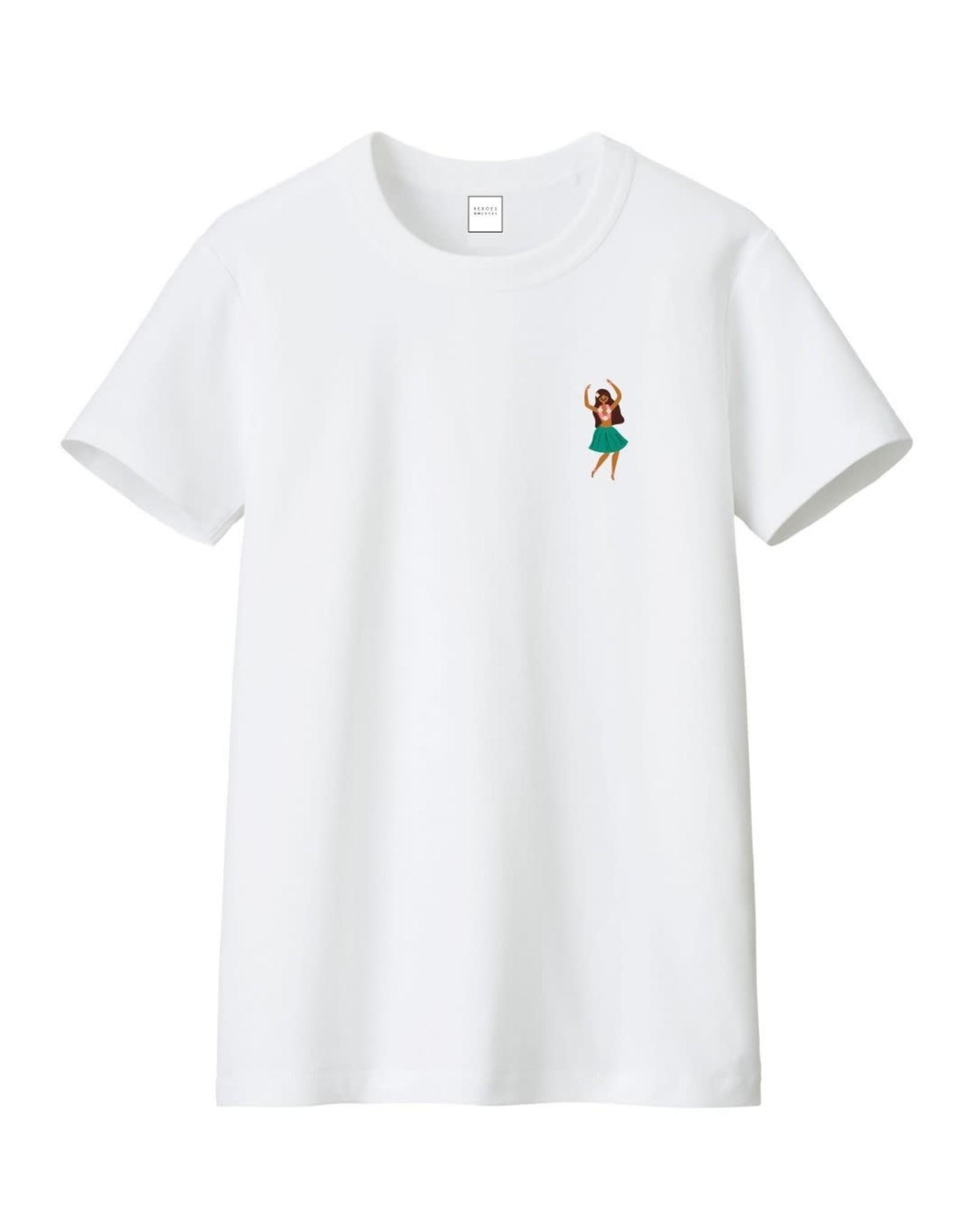 Heroes on Socks Hula Girl T-Shirt