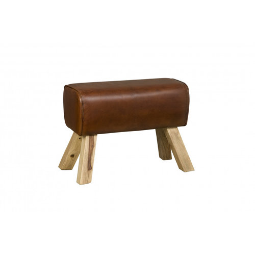 RENEW Stool leather brown - large