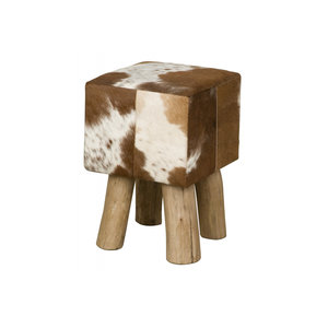 RENEW Tower Living RENEW Stool vierkant - bruin/wit