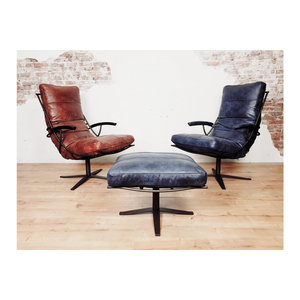 Industriële fauteuil 'Tivoli' Africa leder
