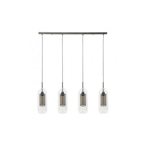 Max Wonen Glazen Hanglamp |  Memphis | 4xØ15