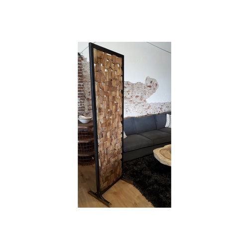 Lifestyle roomdivider teakhout
