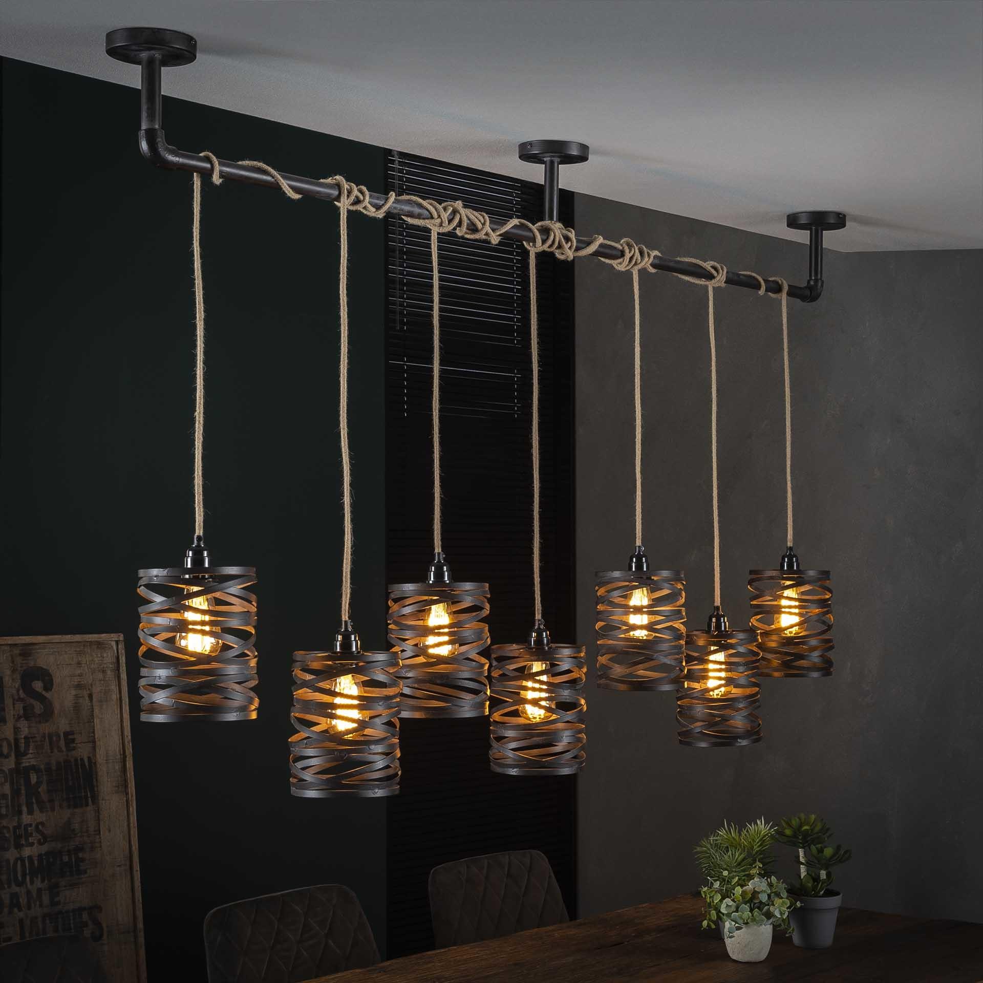 Metalen Hanglamp | Indianapolis 7L