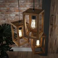 Mangohouten Hanglamp   New Orleans getrapt   3L