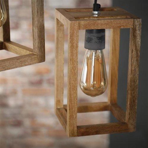 Max Wonen Mangohouten Hanglamp | New Orleans getrapt | 3L