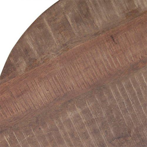 Eleonora Eleonora - Bijzettafel Mango met metalen poot 50 cm   zwart