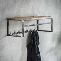Kapstok | Manchester | 7 haken met plank en roede