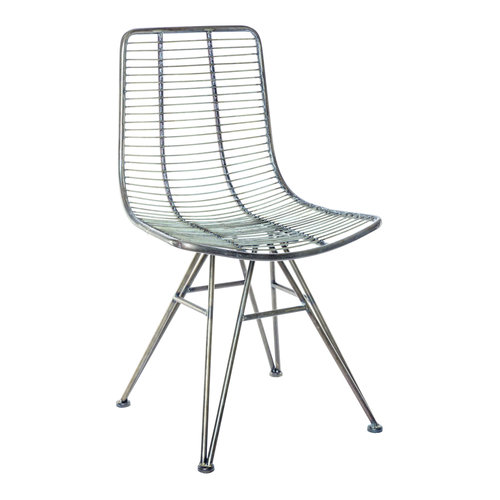 PTMD PTMD Wire metalen stoel zonder armleuning zwart