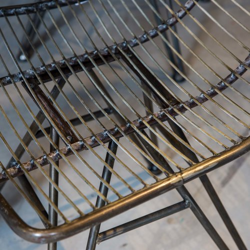 PTMD Wire metalen stoel zonder armleuning zwart