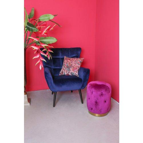 PTMD PTMD Kian velvet fauteuil blauw