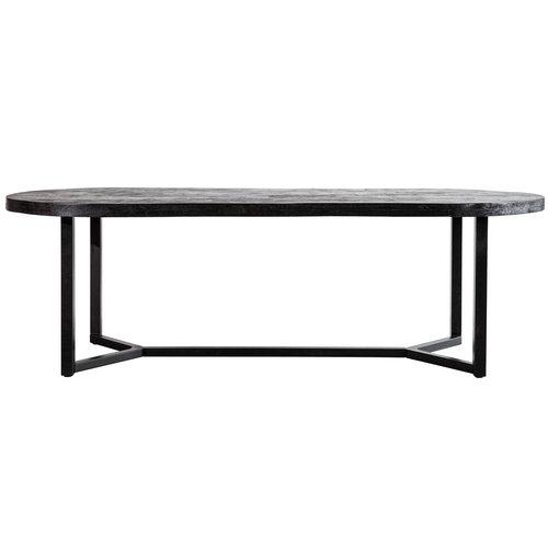 Eleonora Ovale eettafel Denzel | Mangohout & staal | 200-300 cm