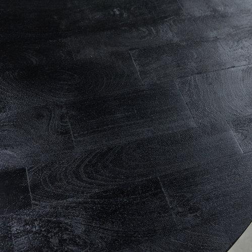 Eleonora Ovale salontafel Denzel   140 cm   Mangohout & staal