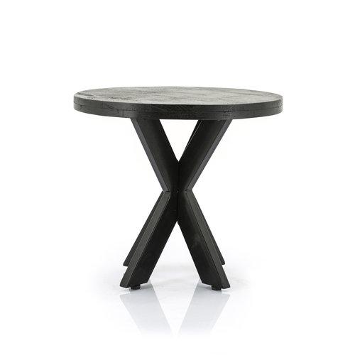 Eleonora Ronde salontafel Steven | Mangohout & staal | 50 & 70 cm