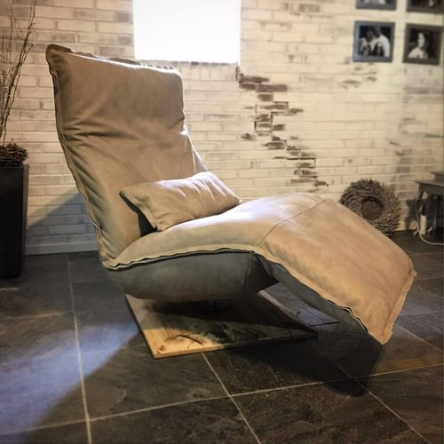 Chill Line Relaxfauteuil Indi Kenia leer taupe | Chill Line