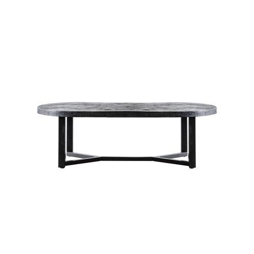 Eleonora Ovale salontafel Denzel | 140 cm | Mangohout & staal