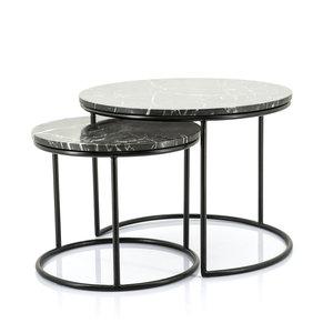 By-Boo Marmeren salontafel | Romeo set van 2