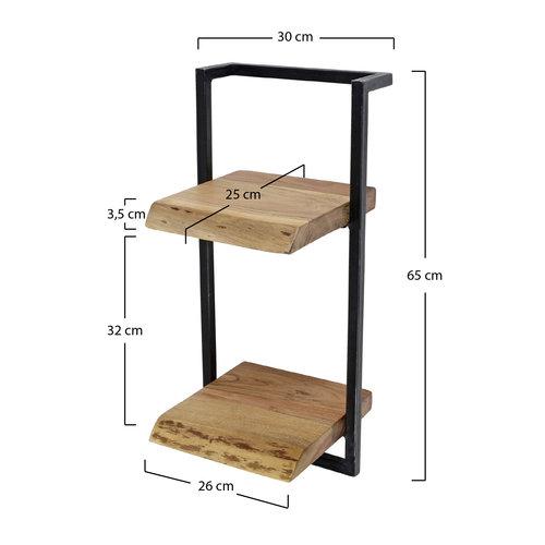Max Wonen Wandplank Edge | Twee planken  | 65 cm