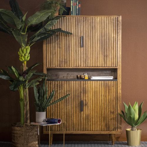 Eleonora Carter serie van mangohout met een marmeren blad