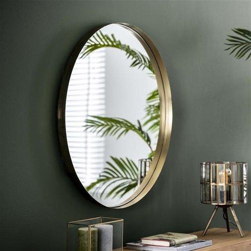 Max Wonen Spiegel Reflection | Goud | Ø75