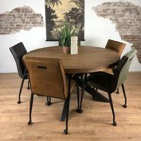 Ronde eettafel Brix Sturdy | Mangohout | 130 cm