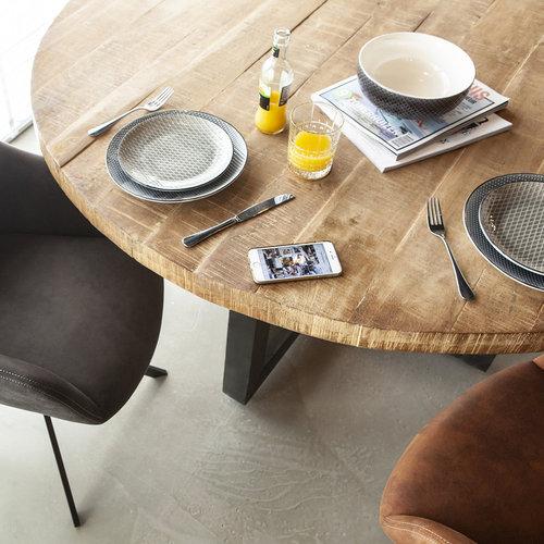 Eleonora Mangohouten eettafel met metalen poot | Twee afmetingen