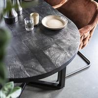 Ovale eettafel Denzel | Mangohout & staal | 200 cm