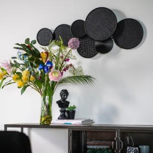 By-Boo Wanddecoratie | Round & Round | Zwart