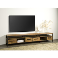 Tv meubel Livorno 240 cm   Gerecycled teak & metaal